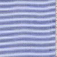 *2 7/8 YD PC--Blue/White Stripe Cotton Shirting