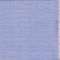*2 7/8 YD PC--Blue/White Stripe Cotton Shirting