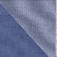 Dusty Blue Stripe Double Face Gauze