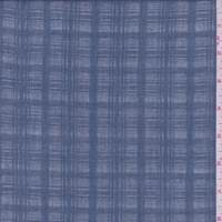 Slate Blue Check Gauze
