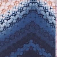 Blue/White Tie Dye Rayon Challis