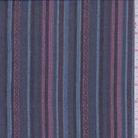 Black/Sea Blue Stripe Chiffon