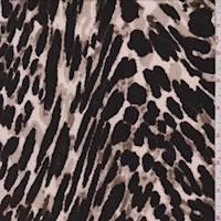Ecru Leopard Print Slinky Knit