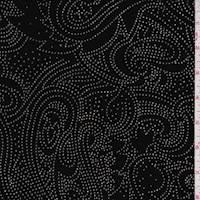 Black Metallic Modern Paisley Slinky Knit