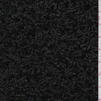 Black/Nickel Baroque Floral Slinky Knit