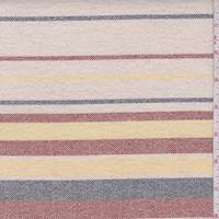 Ivory/Red/Yellow Stripe Stretch Canvas