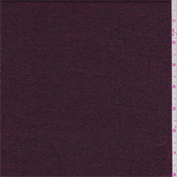 *4 1/8 YD PC--Burgundy Space Dyed Metallic Jersey Knit