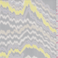 *3 YD PC--Grey Multi Print Silk Chiffon