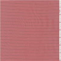 *3 7/8 YD PC--Salmon Orange Stripe Shirting