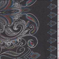 *2 YD PC--Black Multi Medallion Silk Chiffon