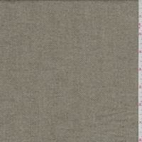 *5 YD PC--Beige/Olive Herringbone Flannel