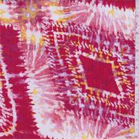 *3 3/8 YD PC--Red/White Diamond Rayon Crepon