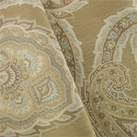 *4 YD PC - Brown/Multi Paisley Jacquard Home Decorating Fabric