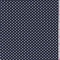 *1 5/8 YD PC--Deep Navy/White Dot Suiting