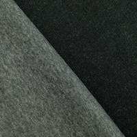 *2 5/8 YD PC--Gray/Black Wool Blend Bonded Jacketing