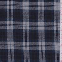 *3 3/4 YD PC--Grey/Midnight Plaid Flannel