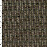 *1 YD PC--Beige/Multi Wool Plaid Jacketing