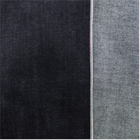 *5 5/8 YD PC--Dark Navy Blue Cotton Slub Japanese Selvedge Denim