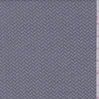 *1 5/8 YD PC--Dove Grey Quilted Chevron Knit