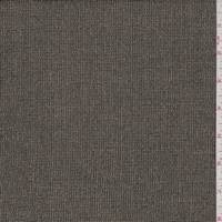 *1 YD PC--Gold/Black Heather Mini Check Wool Blend Suiting