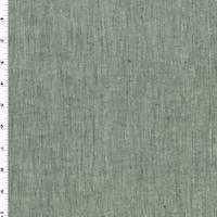 *4 1/4 YD PC--Gray Linen Blend Slub Texture Woven