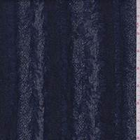 Deep Blue Eyelash Stripe Jacquard