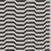 Slate/Ivory Wave Stripe Jacquard Knit