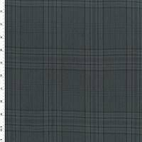 *3 1/4 YD PC--Black/Gray/Multi Tropical Wool Plaid Shirting