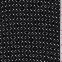 *4 1/2 YD PC--Black/White Pindot Georgette