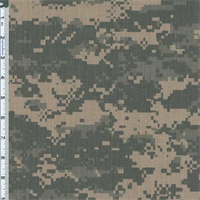 *1 7/8 YD PC--Fatigue DWR Camouflage Print