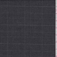 *3 1/2 YD PC--Charcoal Glenplaid Suiting