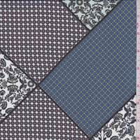 Spa Aqua Patchwork Polyester Chiffon