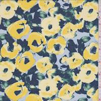 Golden Rod Abstract Floral Chiffon