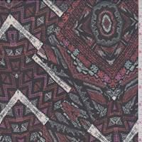 Black/Spice Diamond Polyester Chiffon