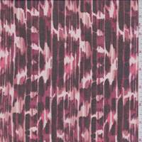 Ruby Brush Stroke Stripe Polyester Chiffon