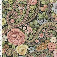 Pink Green Multi Floral Tapestry Home Decorating Fabric