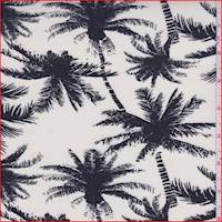 *2 7/8 YD PC--Ivory Palm Tree Rayon Challis