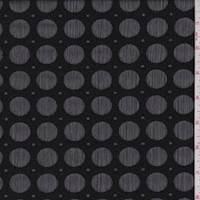 Black Dot Crinkled Chiffon