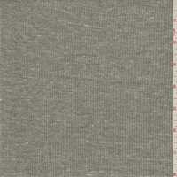 *3 YD PC--Heathered Gray Rib Knit