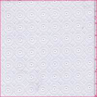 White Medallion Embroidered Eyelet Cotton Batiste