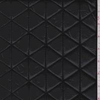 *4 1/2 YD PC--Black Patent Quilted Knit