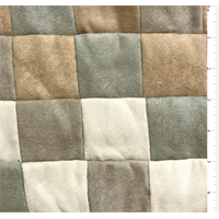 *1 1/2 YD PC--Small Square Patchwork Suede