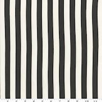 *2 5/8 YD PC--Black/White Rayon Stripe Print Challis
