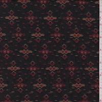 Black Aztec Polyester