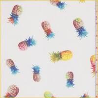 White Multi Pineapple Crinkled Chiffon