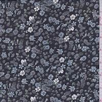 Black Mini Floral Chiffon