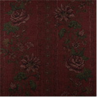 *2 YD PC--Red Floral Chenille Tapestry Home Decorating Fabric