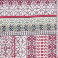 White/Mauve Deco Stripe Chiffon