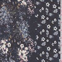 Black Multi Floral Chiffon