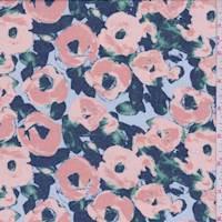 Blush/Sky Poppy Chiffon